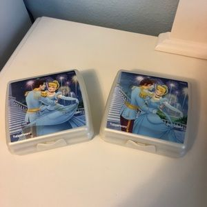Tupperware Cinderella Halogram Sandwich Keepers 2
